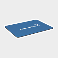 "Picture of Blue 1/8"" Rectangular Rubber Mouse Pad"