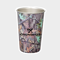 Picture of Camo Stainless Pint Glass 16 oz