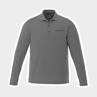 Picture of Gray Elevate Long Sleeve Dri Fit Polo