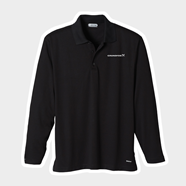 Picture of Men's Black Long Sleeve Micro Polyester Polo