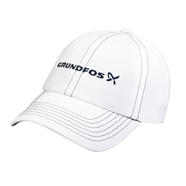 Picture of White Dri Fit Hats with Navy Piping